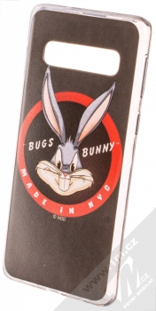 Warner Bros Looney Tunes Bugs Bunny 006 TPU ochranný silikonový kryt s motivem pro Samsung Galaxy S10 černá (black)