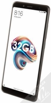 XIAOMI REDMI NOTE 5 3GB/32GB Global Version CZ LTE černá (black) šikmo zepředu