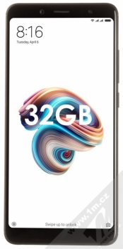 XIAOMI REDMI NOTE 5 3GB/32GB Global Version CZ LTE černá (black) zepředu