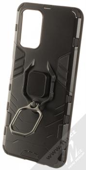 1Mcz Armor Ring odolný ochranný kryt s držákem na prst pro Xiaomi Redmi Note 10, Redmi Note 10S černá (black) držák