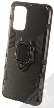 1Mcz Armor Ring odolný ochranný kryt s držákem na prst pro Xiaomi Redmi Note 10, Redmi Note 10S černá (black)