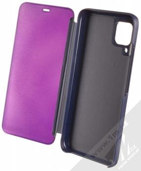 1Mcz Clear View flipové pouzdro pro Huawei P40 Lite fialová (purple) otevřené