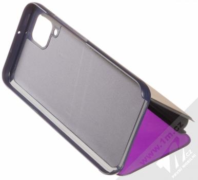 1Mcz Clear View flipové pouzdro pro Huawei P40 Lite fialová (purple) stojánek