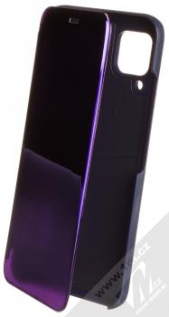1Mcz Clear View flipové pouzdro pro Huawei P40 Lite fialová (purple)