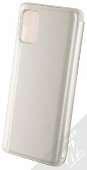 1Mcz Clear View flipové pouzdro pro Samsung Galaxy A31, Galaxy A51, Galaxy A51 5G stříbrná (silver) zezadu