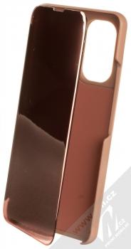 1Mcz Clear View flipové pouzdro pro Xiaomi Poco F3 růžová (pink)