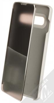 1Mcz Clear View flipové pouzdro pro Samsung Galaxy S10 stříbrná (silver)