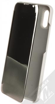 1Mcz Clear View flipové pouzdro pro Xiaomi Redmi 9A, Redmi 9AT stříbrná (silver)
