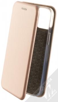 1Mcz Elegance Book flipové pouzdro pro Apple iPhone 13 mini růžově zlatá (rose gold)