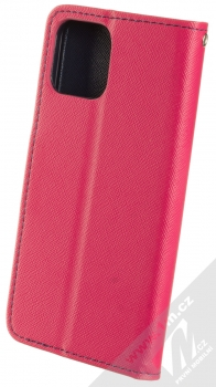 1Mcz Fancy Book flipové pouzdro pro Apple iPhone 12, iPhone 12 Pro růžová modrá (pink blue) zezadu