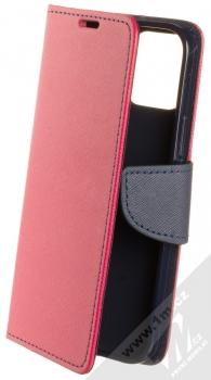 1Mcz Fancy Book flipové pouzdro pro Apple iPhone 12, iPhone 12 Pro růžová modrá (pink blue)