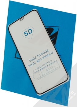 1Mcz Glass 5D Full Glue tvrzené sklo na celou přední stranu pro Apple iPhone 12, iPhone 12 Pro černá (black)