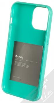 1Mcz Jelly TPU ochranný kryt pro Apple iPhone 12 Pro Max mátově zelená (mint green) zepředu
