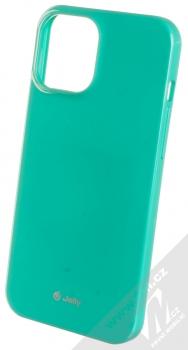 1Mcz Jelly TPU ochranný kryt pro Apple iPhone 12 Pro Max mátově zelená (mint green)