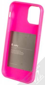 1Mcz Jelly TPU ochranný kryt pro Apple iPhone 12, iPhone 12 Pro sytě růžová (hot pink) zepředu