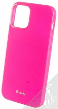 1Mcz Jelly TPU ochranný kryt pro Apple iPhone 12, iPhone 12 Pro sytě růžová (hot pink)