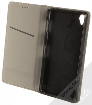 1Mcz Magnet Book Color flipové pouzdro pro Sony Xperia Z3 černá (black) otevřené