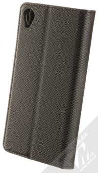 1Mcz Magnet Book Color flipové pouzdro pro Sony Xperia Z3 černá (black) zezadu