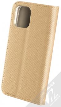 1Mcz Magnet Book flipové pouzdro pro Apple iPhone 12 mini zlatá (gold) zezadu