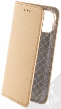 1Mcz Magnet Book flipové pouzdro pro Apple iPhone 12 mini zlatá (gold)