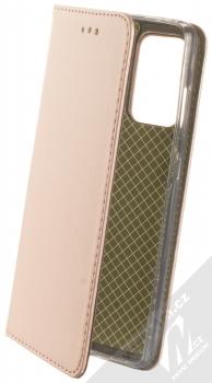 1Mcz Magnetic Book flipové pouzdro pro Samsung Galaxy A52, Galaxy A52 5G, Galaxy A52s 5G růžově zlatá (rose gold)