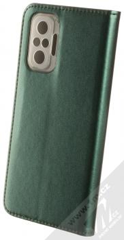 1Mcz Magnetic Book flipové pouzdro pro Xiaomi Redmi Note 10 Pro, Redmi Note 10 Pro Max tmavě zelená (dark green) zezadu