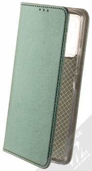 1Mcz Magnetic Book flipové pouzdro pro Xiaomi Redmi Note 10 Pro, Redmi Note 10 Pro Max tmavě zelená (dark green)