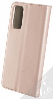 1Mcz Magnetic Book flipové pouzdro pro Samsung Galaxy S20 FE růžově zlatá (rose gold) zezadu