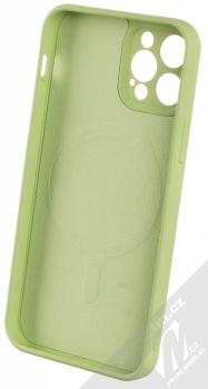 1Mcz MagSilicone TPU ochranný kryt s MagSafe pro Apple iPhone 12, iPhone 12 Pro světle zelená (light green) zepředu