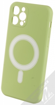 1Mcz MagSilicone TPU ochranný kryt s MagSafe pro Apple iPhone 12, iPhone 12 Pro světle zelená (light green)