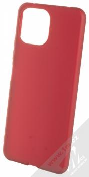 1Mcz Matt TPU ochranný silikonový kryt pro Xiaomi Mi 11 Lite, Mi 11 Lite 5G tmavě červená (dark red)