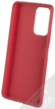 1Mcz Matt TPU ochranný silikonový kryt pro Xiaomi Redmi Note 10 Pro, Redmi Note 10 Pro Max tmavě červená (dark red) zepředu