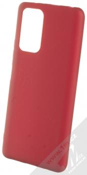 1Mcz Matt TPU ochranný silikonový kryt pro Xiaomi Redmi Note 10 Pro, Redmi Note 10 Pro Max tmavě červená (dark red)