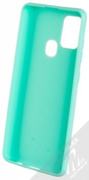 1Mcz Matt TPU ochranný silikonový kryt pro Samsung Galaxy A21s mátově zelená (mint green) zepředu