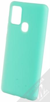 1Mcz Matt TPU ochranný silikonový kryt pro Samsung Galaxy A21s mátově zelená (mint green)