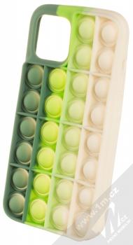 1Mcz Pop It antistresový ochranný kryt pro Apple iPhone 12 Pro Max zelená béžová (green beige)