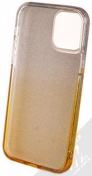1Mcz Shining Duo TPU třpytivý ochranný kryt pro Apple iPhone 12, iPhone 12 Pro stříbrná zlatá (silver gold) zepředu