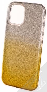 1Mcz Shining Duo TPU třpytivý ochranný kryt pro Apple iPhone 12, iPhone 12 Pro stříbrná zlatá (silver gold)