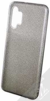 1Mcz Shining Duo TPU třpytivý ochranný kryt pro Samsung Galaxy A32 5G stříbrná černá (silver black)