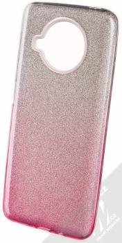 1Mcz Shining Duo TPU třpytivý ochranný kryt pro Xiaomi Mi 10T Lite 5G stříbrná růžová (silver pink)