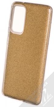 1Mcz Shining TPU třpytivý ochranný kryt pro Samsung Galaxy S20 FE, Galaxy S20 FE 5G zlatá (gold)