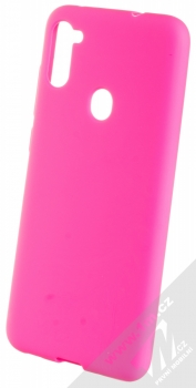 1Mcz Solid TPU ochranný kryt pro Samsung Galaxy M11 sytě růžová (hot pink)
