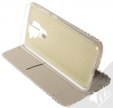 1Mcz Trendy Book Kapradí 3 flipové pouzdro pro Xiaomi Redmi Note 9 bílá růžová (white pink) stojánek