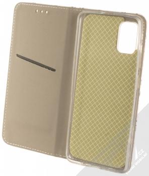 1Mcz Trendy Book Keřík růží 1 flipové pouzdro pro Samsung Galaxy A51 bílá (white) otevřené