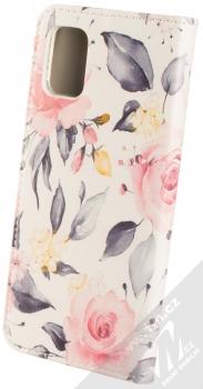 1Mcz Trendy Book Keřík růží 1 flipové pouzdro pro Samsung Galaxy A51 bílá (white) zezadu
