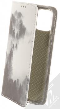 1Mcz Trendy Book Temný les v mlze 2 flipové pouzdro pro Apple iPhone 12, iPhone 12 Pro bílá (white)