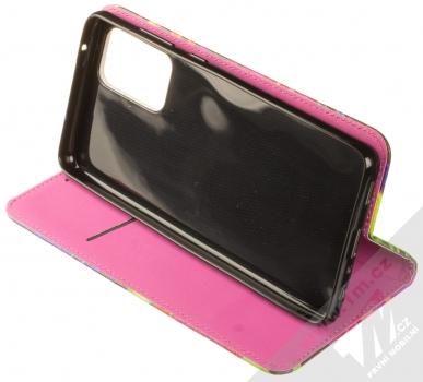 1Mcz Trendy Book Záhon ibišků v noční zahradě 1 flipové pouzdro pro Samsung Galaxy A72, Galaxy A72 5G černá (black) stojánek