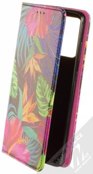 1Mcz Trendy Book Záhon ibišků v noční zahradě 1 flipové pouzdro pro Samsung Galaxy A72, Galaxy A72 5G černá (black)