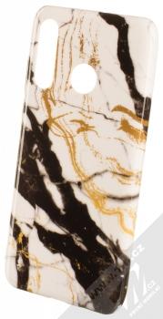 1Mcz Trendy Mramor TPU ochranný kryt pro Huawei P30 Lite bílá zlatá černá (white gold black)