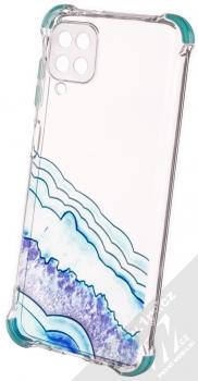 1Mcz Trendy Vodomalba Anti-Shock Skinny TPU ochranný kryt pro Samsung Galaxy A12, Galaxy M12 průhledná modrá (transparent blue)